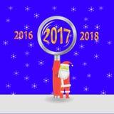 Vektorillustration mit Santa Claus Stockbilder