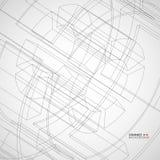 Vektorillustration mit technischem Zeichnungsrad lizenzfreie abbildung