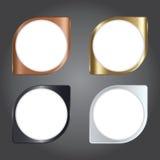 Vektorillustration, modern metallsymbol och mall för design a Arkivbild