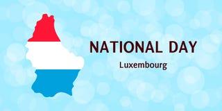 Vektorillustration, nationell dag i Luxembourg Royaltyfri Foto