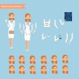 Vektorillustration netten Doktors Stockfotos