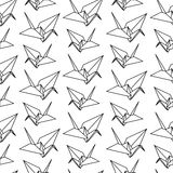 Vektorillustration Origamides papiervogelmusters Lizenzfreie Stockfotos