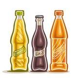 Vektorillustration på temat av logoen för kolsyrade drinkar vektor illustrationer