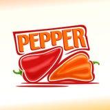 Vektorillustration på temat av peppar Arkivbild