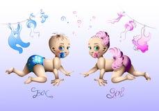Vektorillustration på temat av pojken eller flickan royaltyfri illustrationer