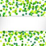Vektorillustration som blänker grön berömbakgrund för konfettier Royaltyfri Bild