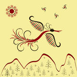 Vektorillustration Sunbird Stockfotos