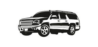 Vektorillustration SUV eller sportnyttofordon stock illustrationer