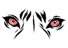Vektorillustration Tiger Eyes Mascot Graphic im weißen Hintergrund vektor abbildung