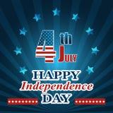 Vektorillustration till dagen av självständighet av USA Royaltyfria Bilder