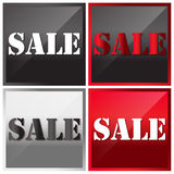 Vektorillustration, Verkaufstext Stockbild