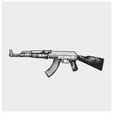 Vektorillustration von AK-47 Lizenzfreie Stockfotografie