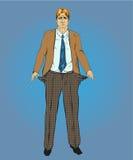 Vektorillustration von brach Geschäftsmann in der Retro- Pop-Arten-Art lizenzfreie abbildung