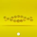 Vektorillustration von DNA-Struktur in 3d Lizenzfreie Stockbilder