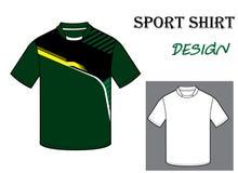 Vektorillustration von Fußballt-shirt Schablone Lizenzfreie Stockfotografie