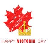 Vektorillustration von glücklicher Victoria Day lizenzfreie abbildung