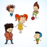 Vektorillustration von Gruppenkindern Lizenzfreie Stockbilder