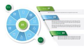 Vektorillustration von Infographic lizenzfreie stockfotografie