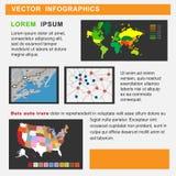 Vektorillustration von Informationsgraphiken Stockfotos