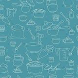 Vektorillustration von Küchengeräten als nahtlosen Muster Lizenzfreie Stockfotos