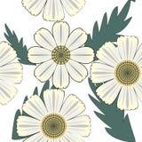 Vektorillustration von mit Blumennahtlosem Lizenzfreie Stockbilder