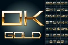 Vektorillustration von mutigsten goldenen Buchstaben Lizenzfreies Stockfoto