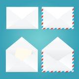 Vektorillustration von offenen und geschlossenen Umschlägen Lizenzfreie Stockbilder