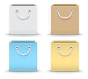 Vektorillustration von Papiereinkaufstaschen Stockbilder