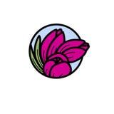 Vektorillustration von purpurroten Tulpen Lizenzfreie Stockfotos