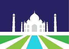 Vektorillustration von Taj Mahal lizenzfreie stockfotografie
