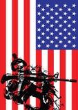 Vektorillustration von US-Marinesoldaten Stockbild