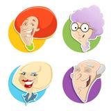 Vektorillustration von verschiedenen Gesichtern stock abbildung