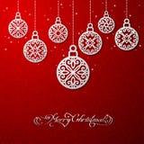 Vektorillustration von Weihnachtsbällen Stockfotos