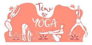 Vektorillustration von Yoga vektor abbildung