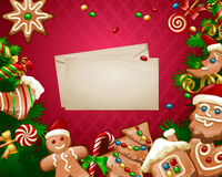 Vektorillustration Weihnachtsbonbonhintergrund Stockbild
