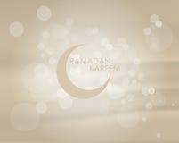 Vektorillustrationbakgrund, inbjudan för den heliga månaden Ramadan Kareem för muslimgemenskap med bokeh Royaltyfri Foto