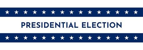 Vektorillustrationbaner med USA symboler Stjärnadel av amerikanska flaggan Presidentval i 2020 royaltyfri illustrationer