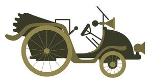 Vektorillustrationbegrepp av den gamla bilen för tappning Färgrikt på vit bakgrund vektor illustrationer
