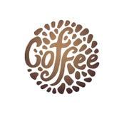 Vektorillustrationbegrepp av kaffecirkelillustrationen på vit bakgrund vektor illustrationer