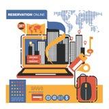 Vektorillustrationbegrepp för på linjen lager Digital marknadsföring mobil betalning Arkivbilder