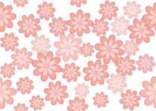 Vektorillustrationen av blommor Arkivfoto