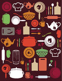 Gulligt kök mönstrar Fotografering för Bildbyråer