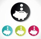 Piggy packa ihop symbolen Arkivbild