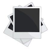 Det tomma fotoet inramar på vitbakgrund Arkivbild
