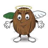 Vektorillustrationen av kokosnöten gillar en ängel royaltyfri illustrationer