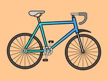 Vektorillustrationen av sportarna cyklar vektor illustrationer