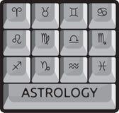 Zodiacastrologiteckenet skrivar knäppas uppsättningen Arkivbilder