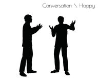 Vektorillustrationen för EPS 10 av mannen i ilsken konversation poserar på vit bakgrund royaltyfri illustrationer