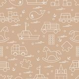 Vektorillustrationen lurar leksakobjekt: drev pussel, formgivare, royaltyfri illustrationer