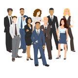 Vektorillustrationen von Geschäftsleuten Lizenzfreies Stockbild